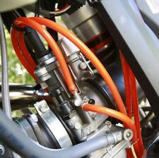 KTM 125 Sx Exc Carburettor Breather Overflow PIPE HOSE ORANGE & CLIPS 2m Length