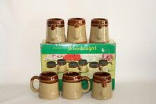 6 Mini Western Germany German Beer Steins Mugs Shot Glasses