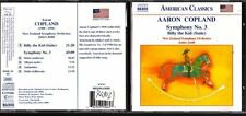 CD 1400  AARON COPLAND  SYMPHONY N 3 BILLY THE KID