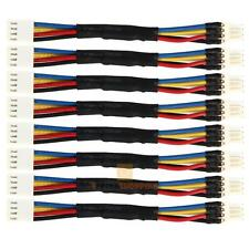 8pcs PC Fan Noise Speed Reduce 4 Pin Power Resistor Male to Female Cable Ad JF#E