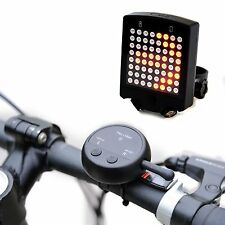 64 LED Bike Rear Wireless Remote Bicycle Tail Laser Light Turn Signals Safety