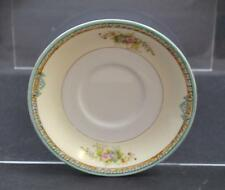 "Vintage Noritake Red M Wreath Hand Painted Japan Green Cream Rim Saucer 5 5/8""P3"