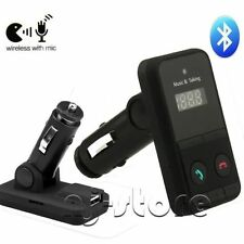 Wireless Bluetooth FM Transmitter Car Kit MP3 Player USB LCD Remote Charger