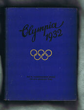 #YY. ORIGINAL 1932  LOS ANGELES OLYMPIC BOOK - GERMAN LANGUAGE