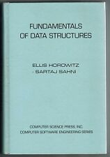 Fundamentals of Data Structures by Horowitz and Sahni (1976, HC, 6th printing)