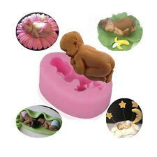 Sleeping Baby Shape Cake Mould Fondant Sugar Candy Cupcakes DIY Silicone Mold