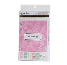 NEW Recollections Planner A6 Binder 12 Month Calendar Pack - Pink Blush & Mint