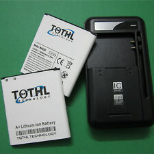 2 x 4000mAh Extended Slim Battery+AC Charger fr Samsung Galaxy S4 R970 M919 L720