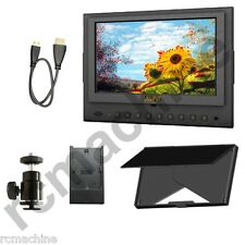 "Lilliput 7"" 5D-II/O/P Peaking Focus assist LP-E6 adap HDMI Monitor Canon 5D2 II"