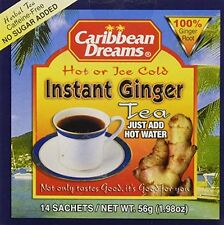 CARIBBEAN DREAMS INSTANT GINGER TEA UNSWEETENED