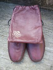 CHURCH TRAVEL SLIPPERS – BURGUNDY CALF – UK 8 – EXCELLENT CONDITION