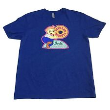 (L) LARD LAD World Famous Donuts THE SIMPSONS Blue T-Shirt Bart Homer Krispy Cop
