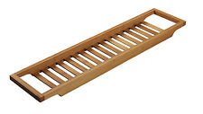 Bath Tub Rack Shower Shelf Tray Caddy Storage Bamboo Bath Bridge By Fine Star