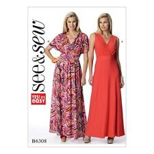 BUTTERICK SEW & SEW SEWING PATTERN MISSES' PULLOVER EASY DRESS SIZE 8-22 B6308