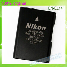 Genuine Original Nikon EN-EL14 EN-EL14A Battery D5100 D3200 P7000 P7100 MH-24