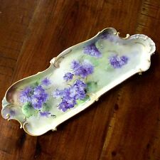 Rosenthal Sansoucci Large Vanity Tray Violets Hand Painted