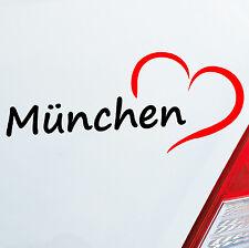 Autoaufkleber München ca. 19x8cm Herz Stadt Auto Sticker Aufkleber 789