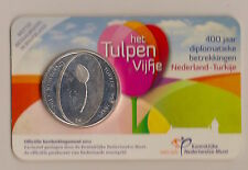 COIN CARD 5€ HOLANDA AÑO 2012-400 AÑOS RELACCIONES DIPLOMATICAS  HOLANDA-TURKIA