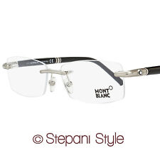 Montblanc Rimless Eyeglasses MB474 016 Size: 57mm Palladium/Black 474