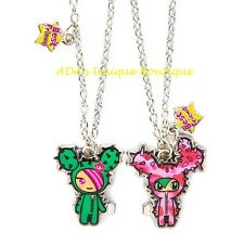 Tokidoki Neon Star Sandy BFF Necklace Cactus Magnetic Friendship Best Friends