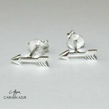Solid 925 Sterling Silver Stud Earrings Arrow Design New with Gift Bag