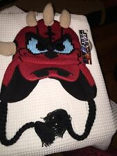 Star Wars Donald Duck as Darth Maul Adult Beanie Laplander Hat Cap~New With Tags