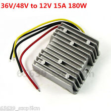 New Waterproof DC/DC Converter Regulator 36V/48V Step Down to 12V 15A 180W