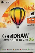 Corel DRAW Home & Student Suite X6 New and Factory Sealed 3 User
