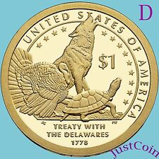 2013-D NATIVE AMERICAN SACAGAWEA GOLDEN DOLLAR FROM UNCIRCULATED U.S. MINT ROLL