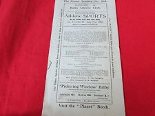 BALBY  Athletic Club SPORTS  Programme  21/07/31  1930's
