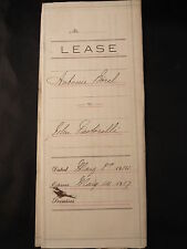 Antique 1914 LEASE ANTOINE BOREL TO JOHN PASTORELLI A BAKERY IN SAN MATEO CA