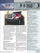 Truck Brochure - Ford - F-750 - Super Duty Chassis Cab - 2005 (T1261)