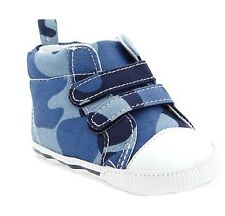 Old Navy Hi-top Soft Sole Baby Shoes – Blue Camouflage (Size 3-6 mos)