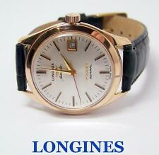14k Rose LONGINES 5 STAR ADMIRAL StaMens AUTOMATIC Watch 1960s Cal 505* SERVICED