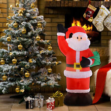 8 Ft Airblown Inflatable Christmas Xmas Santa Claus Bag Decor Lawn Yard Outdoor