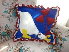HAND- CROCHET GOOSE PILLOW ONE-OF-A-KIND!   MUST SEE