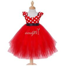 Toddler Girl Baby Minnie Mouse Wedding Cosplay Costume Fancy Tutu Gown Dress+Ear