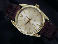 Mens Rolex 14K Gold Shell Oyster Perpetual No-Date Watch Brown Champagne 1024