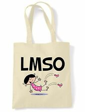 LMSO SHOULDER  TOTE BAG - Laugh My Socks Off Text Language Facebook Twitter