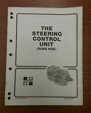 HYSTER THE STEERING CONTROL UNIT FORKLIFT MANUAL H40-60XL, 910172 (1981)