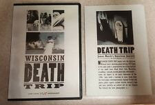 Wisconsin Death Trip DVD RARE OOP! Black River Falls Documentary. R1, w/ Insert.