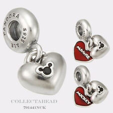 Authentic Pandora Silver Dangle Disney Minnie & Mickey Enamel Bead 791441NCK