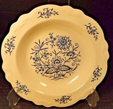 "Homer Laughlin Virginia Rose Dresden Imperial Blue Soup Bowl Pasta 8 1/4"" NICE!"