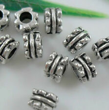 Free Shipping Wholesale 100Pcs Tibetan Silver Spacer Beads For Jewelry 5x3mm