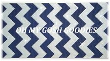 "3"" NAVY WHITE GLITTER CHEVRON BLING GROSGRAIN RIBBON TIGER CHEER 4 HAIRBOW BOW"