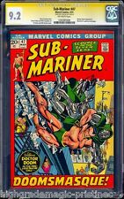SUB-MARINER #47 CGC 9.2 SS STAN LEE SINGLE HIGHEST CGC GRADED SS  #1283485008