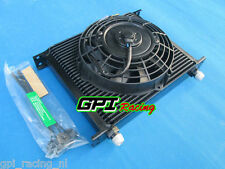 "Universal 30 Row 10 AN Transmission Oil Cooler & 7"" inch fan JAPAN TUNING CARS"