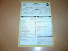 Fiche technique l'Expert automobile Renault Scénic moteur essence F 1998 cc 1997