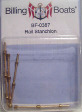 Billing Boats Accessory BF-0387 - 5 x 38mm Brass Handrail Stanchions New Pack
