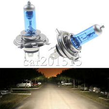 2x H4 6000k Super Bright 55W 12V Car Halogen Head Light Lamp/Fog White Bulb